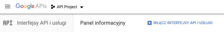 Jak wygenerować Google API Key